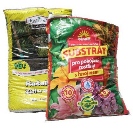 Substráty, rašelina, mulčovací kůra, perlit, keramzit, zeolit a mramorová drť